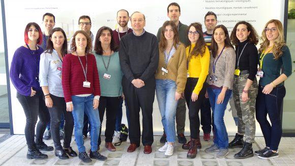 Dr. Ramon Mangues i el seu grup de recerca